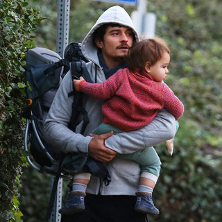 Orlando Bloom Hikes With Flynn in LA | Pictures