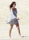Cindy Crawford went out for a leisurely walk in Cabo San Lucas.