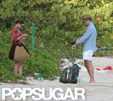 Olivia Palermo and her boyfriend packed up their beach gear.