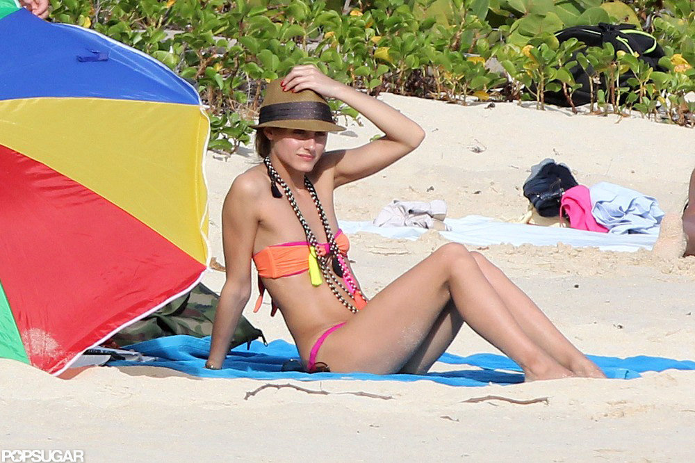 Olivia Palermo visited a beach in St. Barts.