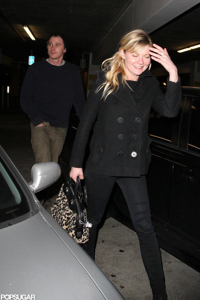 Garrett Hedlund and Kirsten Dunst visited the ArcLight Cinemas in LA.