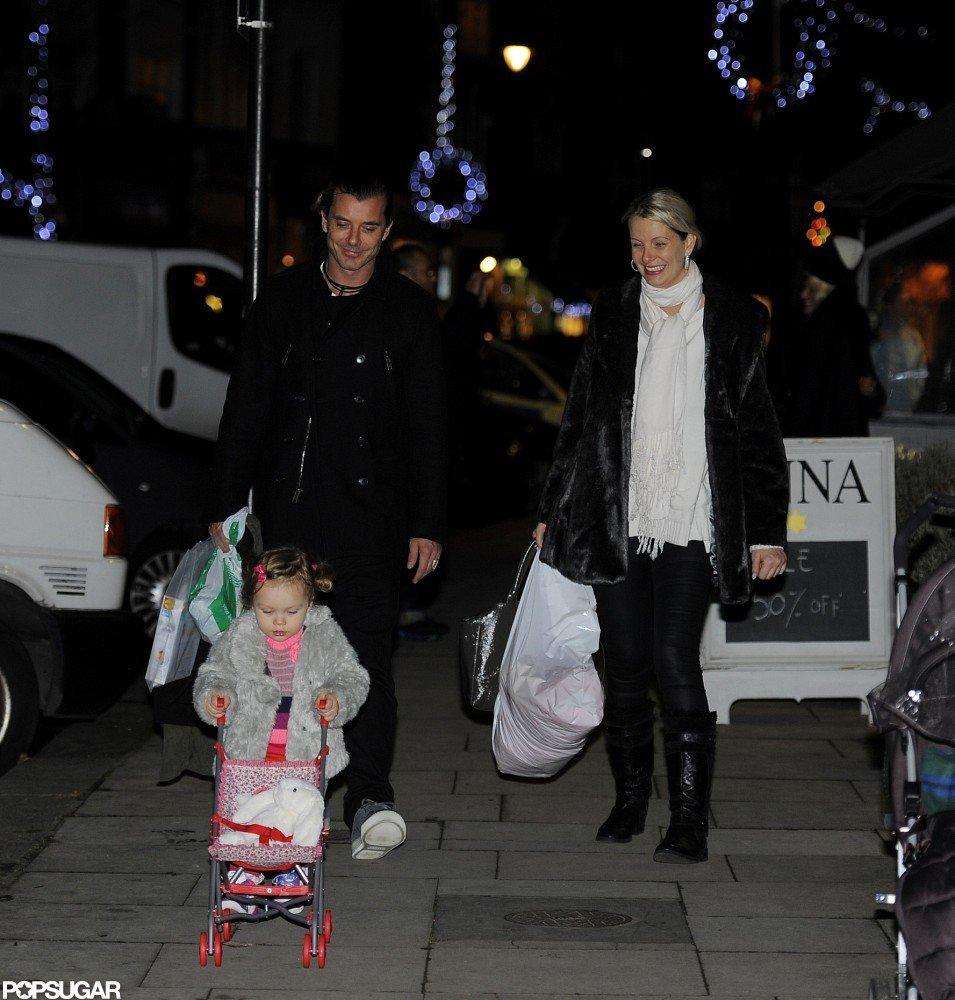 Gavin Rossdale took an evening walk in London.