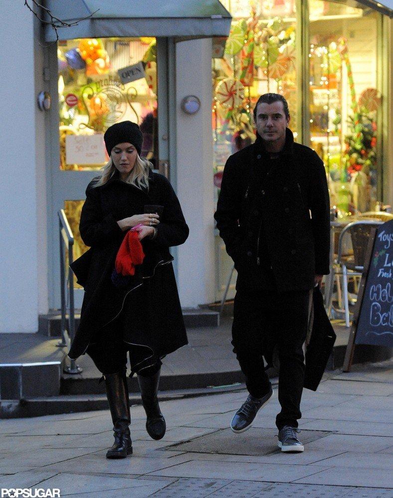 Gwen Stefani and Gavin Rossdale took an evening walk in London.