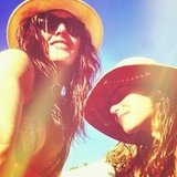 Hilary Rhoda and Danielle Snyder had a beach day in Jamaica. Source: Instagram user hilaryhrhoda
