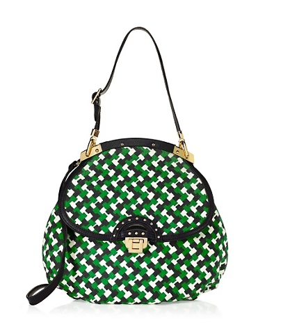 This Juicy Couture geo printed bag ($158) is one of our favorites of the bunch. Not only is the price right, but the pattern is also mesmerizing.