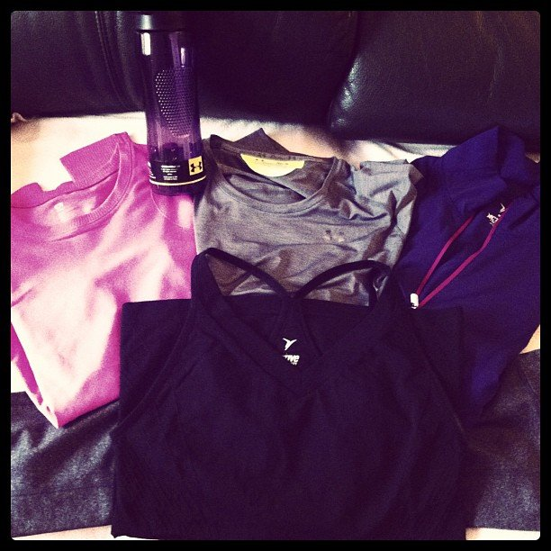 It looks like someone will be rocking a lot of new Under Armour at the gym this year. Source: Instagram user mypart912