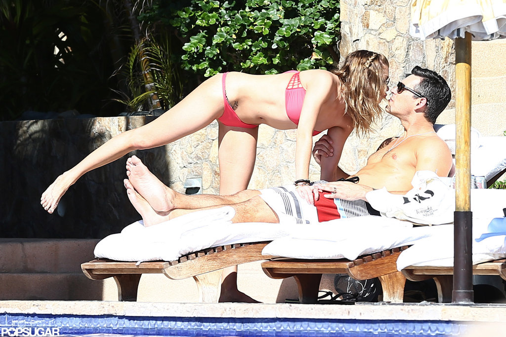 Bikini-clad LeAnn Rimes kissed shirtless Eddie Cibrian in Cabo.