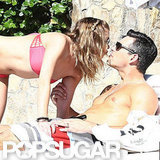 LeAnn Rimes and shirtless Eddie Cibrian showed PDA.