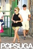 Julianne Hough shopped around St. Barts in a pair of short shorts.