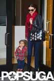 Flynn and Miranda Kerr sauntered out of a building together in NYC in November 2012.