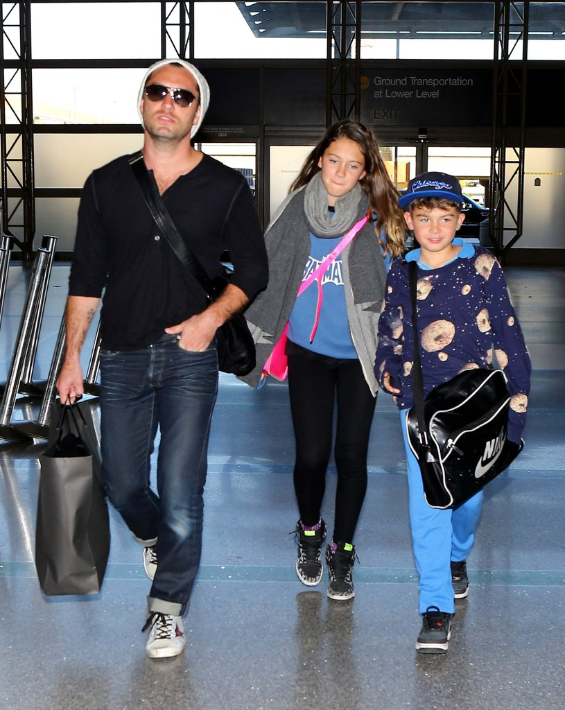 Jude Law took his children on a trip out of LA.