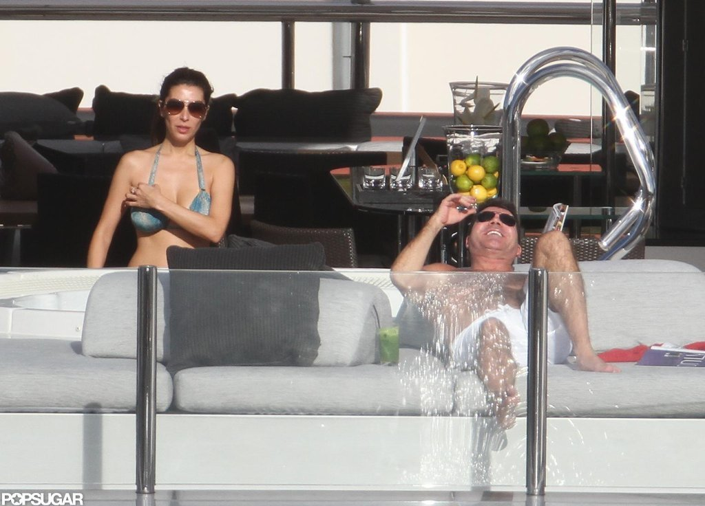 Mezhgan Hussainy wore a bikini while Simon Cowell went shirtless.