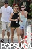 Julianne Hough carried a water bottle with her for a shopping trip in St. Barts.
