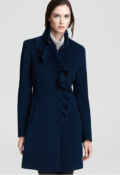 Still looking for a chic Winter coat? We recommend this DKNY ruffle-front coat ($239, originally $399) because it will lend instant sophistication to all your ensembles.