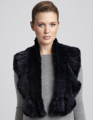 This La Florentina mink ruffle scarf ($395) will keep you warm and stylish at the same time. Throw it on over everything from a little black dress to jeans.