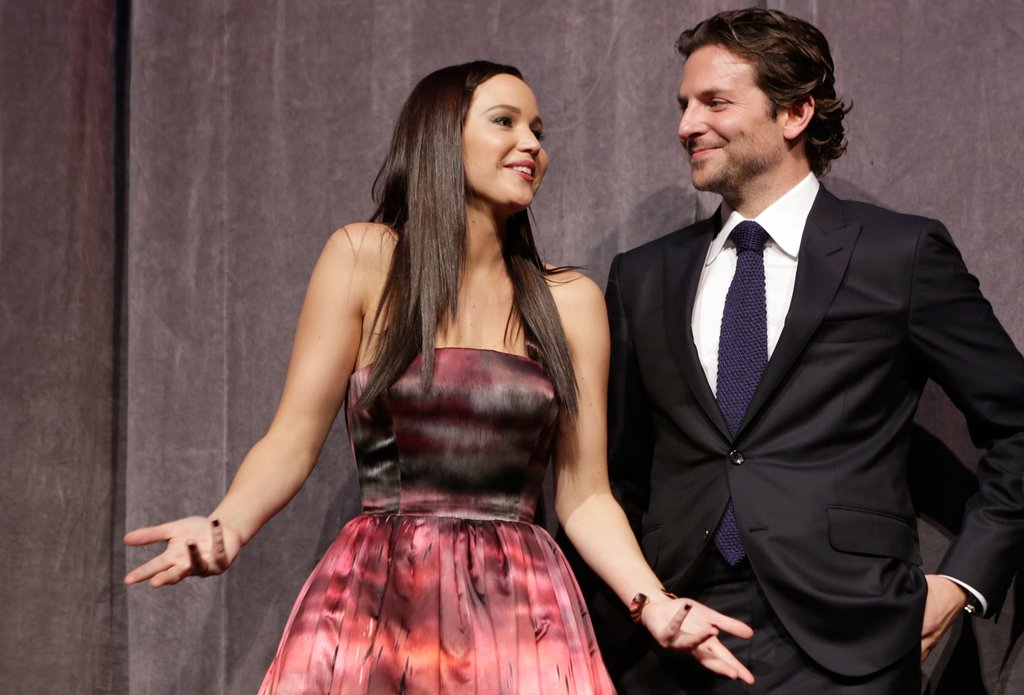 Bradley was too cute on stage at the 2012 Toronto International Film Festival with Silver Linings Playbook costar Jennifer Lawrence.
