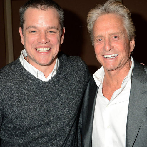 Pictures: Matt Damon & Michael Douglas Talk Liberace Film
