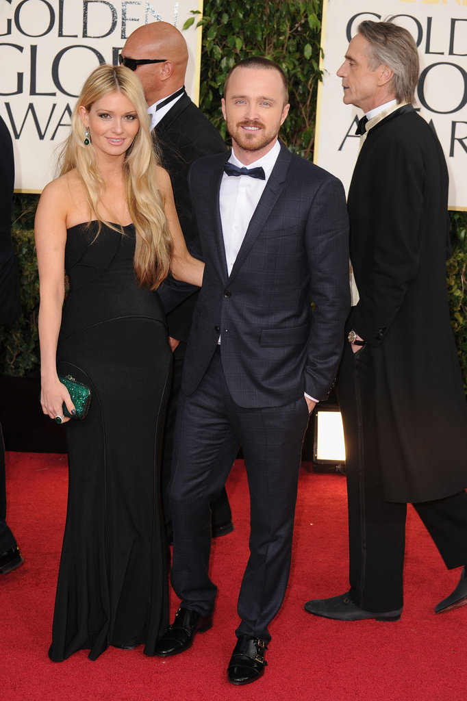 Lauren Parsekian and Aaron Paul