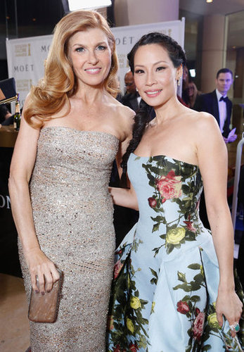 Connie Britton and Lucy Liu smiled together at the Golden Globes.