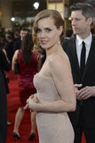 Amy Adams on the red carpet at the Golden Globe Awards.
