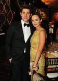Couple Emily Blunt and John Krasinski at the 2013 Golden Globes.