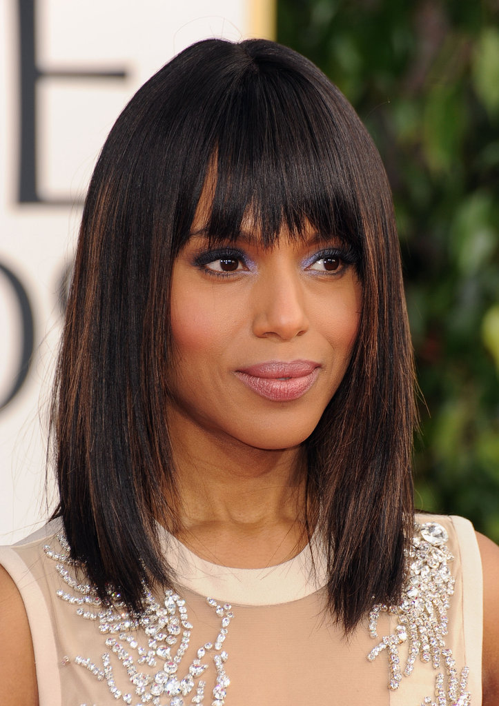 Kerry Washington smiled on the red carpet.