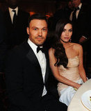 Megan Fox and Brian Austin enjoyed dinner during the Golden Globe Awards.