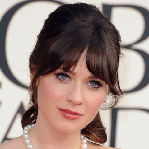 Zooey Deschanel Pictures at 2013 Golden Globes