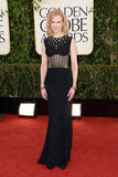 Nicole Kidman wore Alexander McQueen to the 2013 Golden Globes.