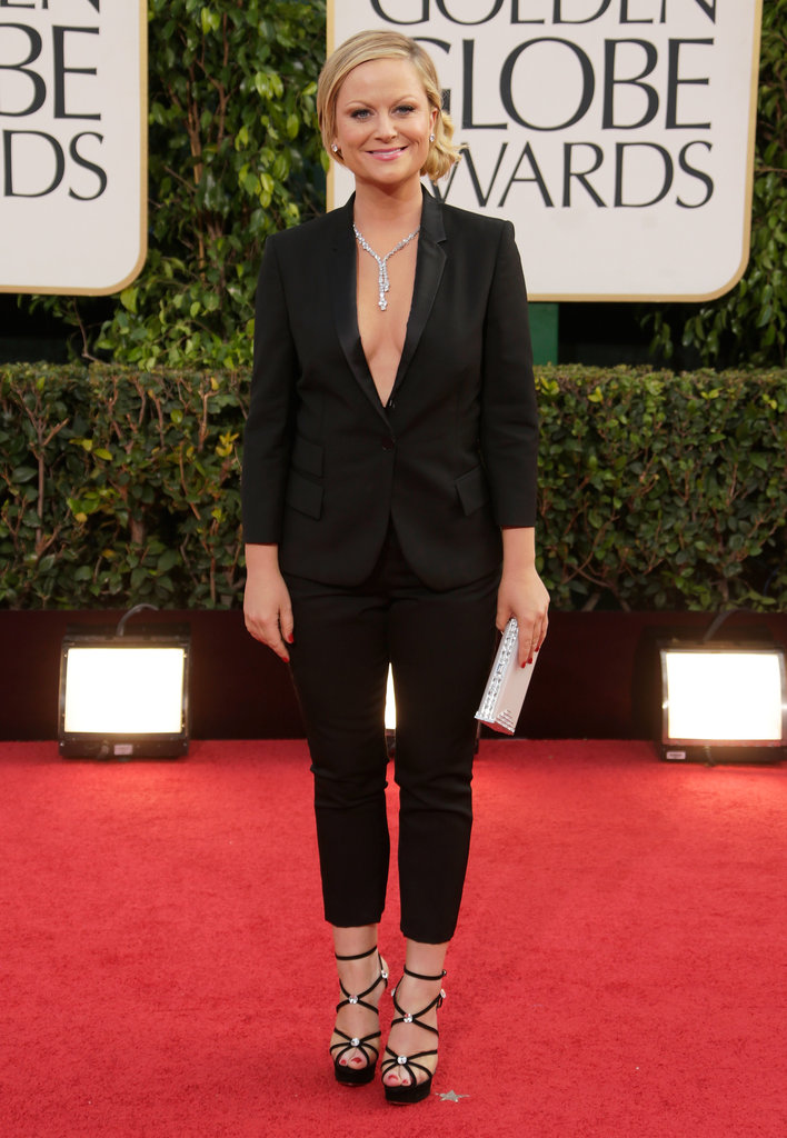 Amy Poehler suited up in a Stella McCartney tux for the red carpet.