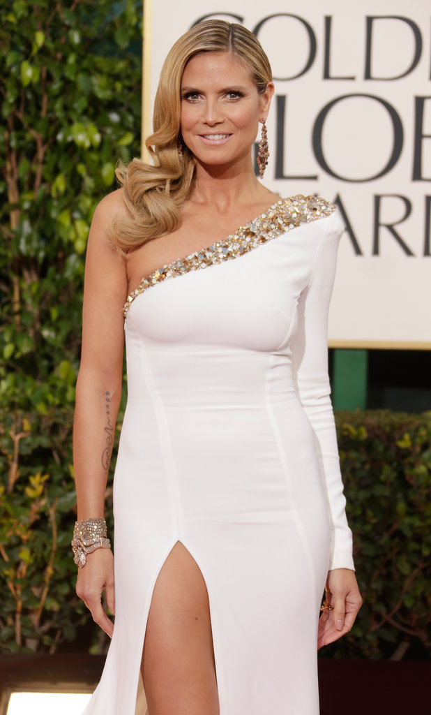 Mom of four Heidi Klum proved she's still got it, wearing a one-shouldered Alexandre Vauthier gown.