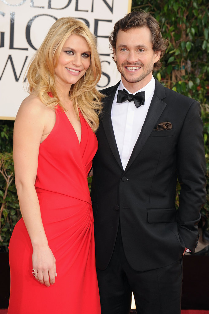 Claire Danes Brings a Pop of Red to the Golden Globes Carpet
