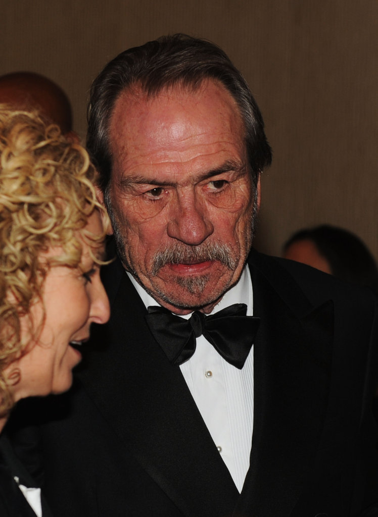 Tommy Lee Jones talked with friends at the Golden Globes.