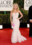 Hayden Panettiere blew Golden Globe goers away with her strapless, formfitting Robert Cavalli dress.
