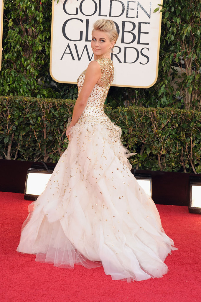 Juilanne Hough poses on the red carpet.