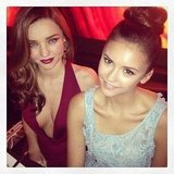 Miranda Kerr partied with Nina Dobrev at the Golden Globes. Source: Twitter user MirandaKerr