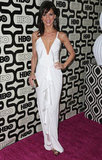 Perrey Reeves got the white-dress-at-night look down by giving shape and texture to the crisp number. Ruffles down the front and a deep-V bodice made it ultrasexy for a night out.