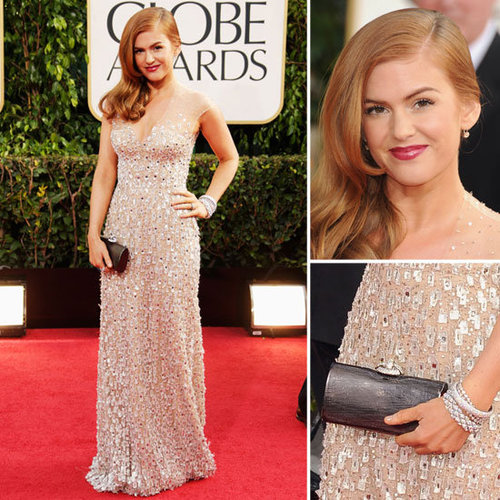 Pictures of Isla Fisher in Reem Acra at 2013 Golden Globes
