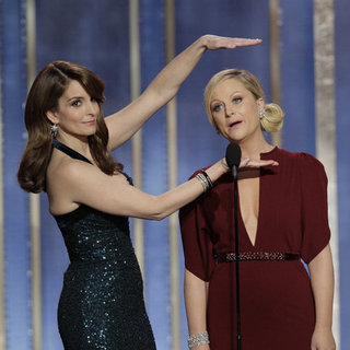 Tina Fey and Amy Poehler at Golden Globes 2013