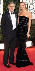 George Clooney and Stacy Keibler(2013 Golden Globes Awards)