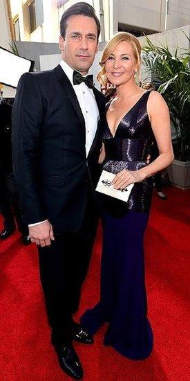Jon Hamm and Jennifer Westfeldt (2013 Golden Globes Awards)