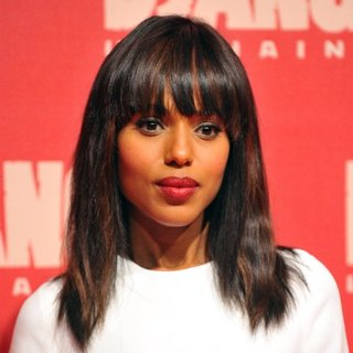 Kerry Washington With Blunt Bangs