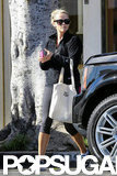 Reese Witherspoon carried a tote bag while leaving the gym.