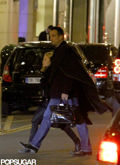 Mary-Kate Olsen and her boyfriend Olivier Sarkozy walked around Paris.