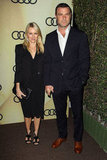 Naomi Watts wore black for the LA party.