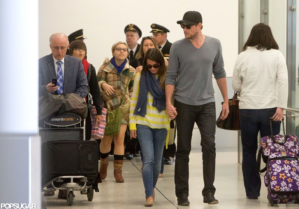 Lea Michele and Cory Monteith arrived at LAX hand in hand.