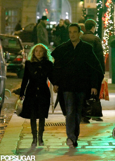 Mary-Kate Olsen and Olivier Sarkozy held hands in Paris.