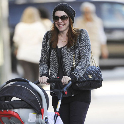 Alyson Hannigan Wearing Tweed Jacket