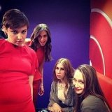 The stars of Girls had fun backstage at the Today show after meeting Jeff Bridges.  Source: Instagram user lenadunham