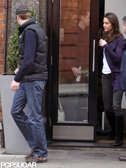 Prince William and Kate Middleton had a lunch date in March 2009 in London.